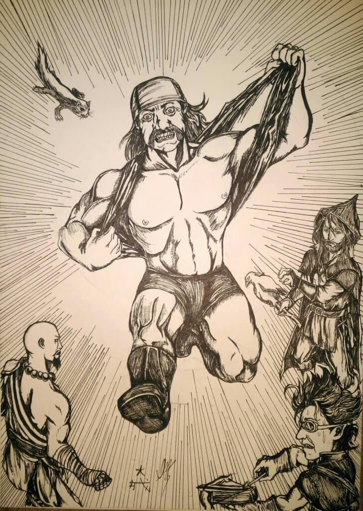 hulk hogan ataca o grupo - Matheus Oshiro